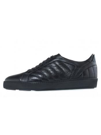 Кеды кожаные SIGOTTO UOMO (Turkey) 20606 черные