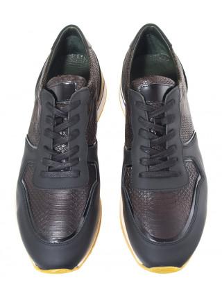 20611 SIGOTTO UOMO 8326 кросовки кожаные черные