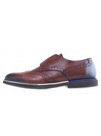 20612 SIGOTTO UOMO 7208 туфли-броги кожаные коричневые