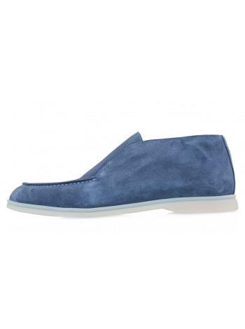 20614 SIGOTTO UOMO 5514 лоферы замшевые синие