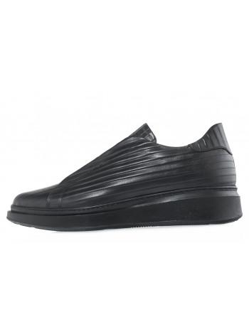 20620 JOHN RICHARDO 13681 кеды кожаные черные