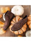 Ботинки-броги осенние замшевые ADOLFO CARLI (ИТАЛИЯ) 2981 коричневые