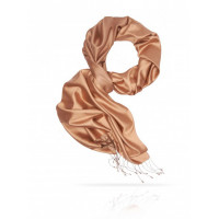 3595 MICHEL KATANA  (Франция) Палантин женский 100% шелк красный