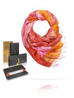 3604 MICHEL KATANA (Франция) Палантин женский 100% шелк розовый