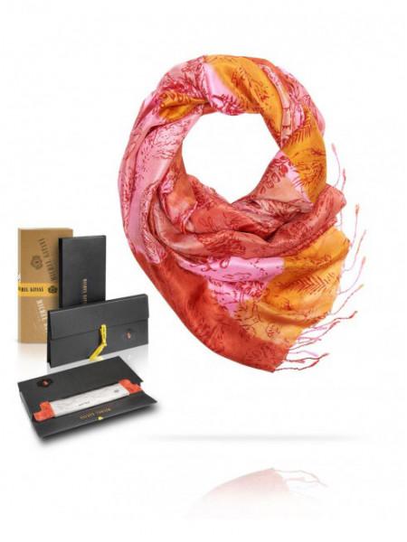 Палантин женский 100% шелк MICHEL KATANA (France) 3604 розовый