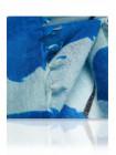 3621 MICHEL KATANA (Франция) Палантин женский 100% шерсть голубой