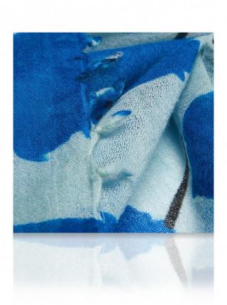 Палантин женский 100% шерсть MICHEL KATANA (France) 3621 голубой
