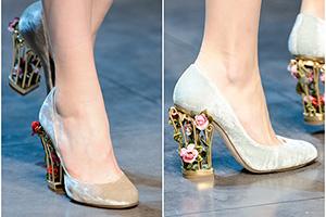 Обувь с архитектурным каблуком