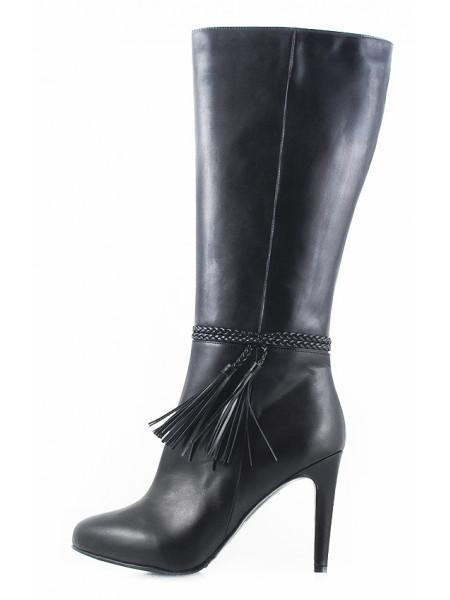 Сапоги осенние кожаные GUBAN (Romania) 10328 черные