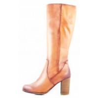 10464 TAMARIS (Germany) Сапоги осенние кожаные светло-коричневые
