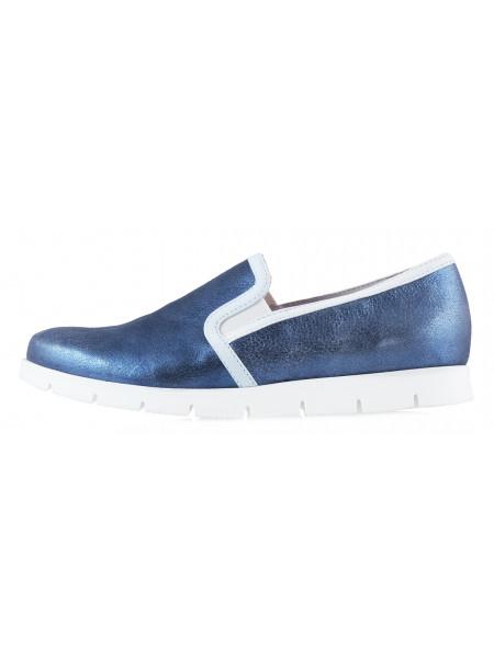 10633 SHOEBOOUTIQUE (Poland) Слипоны замшево-лаковые голубые