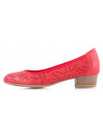 Туфли кожаные сетка сквозная TAMARIS (Germany) 10730 красные