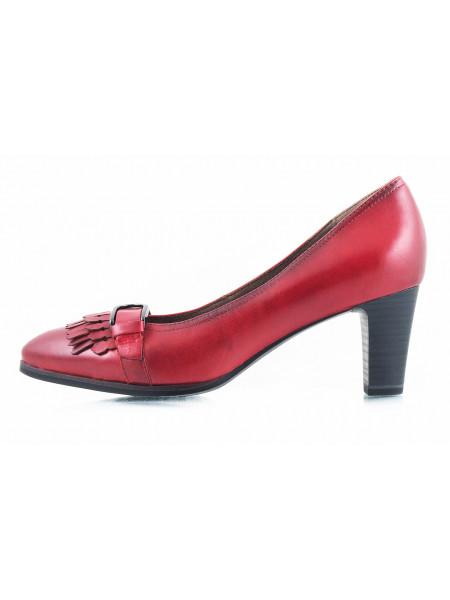 10866 TAMARIS (Germany) Туфли кожаные бордовые