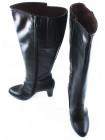 10894 NERO GIARDINI (Italy) Сапоги осенние кожаные черные