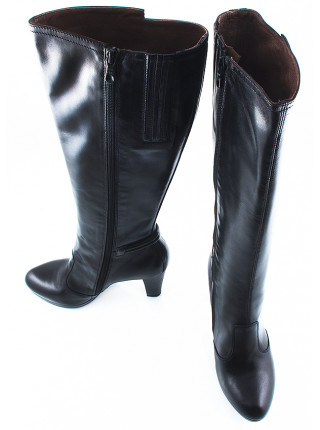 Сапоги осенние кожаные NERO GIARDINI (ИТАЛИЯ) 10894 черные