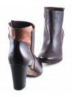 10900 MALLY (Italy) Ботильоны осенние кожано-лаковые темно-коричнево-коричневые