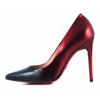 Туфли лаковые RYLKO (Poland ) 10932 черно-бордовые