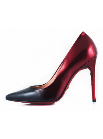 10932 RYLKO (Poland ) Туфли лаковые черно-бордовые