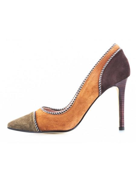 10965 LODI (Spain) Туфли замшевые светло-коричнево-зелено-коричневые