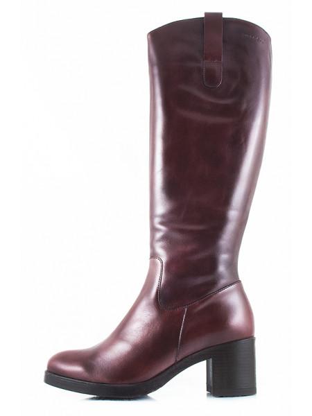 Сапоги осенние кожаные WONDERS (ИСПАНИЯ) 10974 коричневые