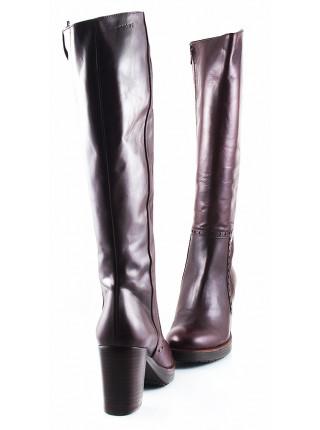 10975 WONDERS (Spain) Сапоги осенние кожаные бордовые
