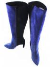 10977 VICTIM (Poland) Сапоги осенние замшевые голубовато-сине-черные