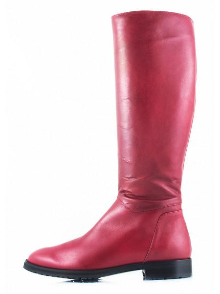 10978 VIKTIM (Poland) Сапоги осенние кожаные бордовые