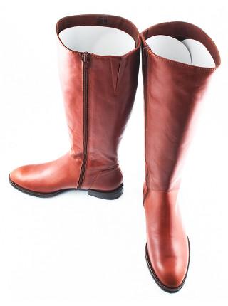 10979 VIKTIM (Poland) Сапоги осенние кожаные светло-коричневые