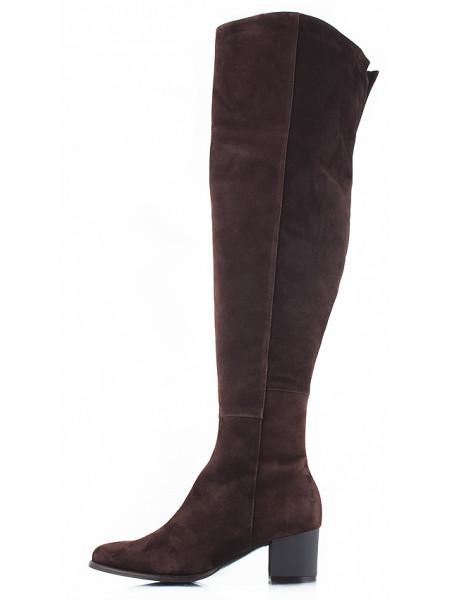 10986 VIKTIM (Poland) Ботфорты осенние замшевые коричневые