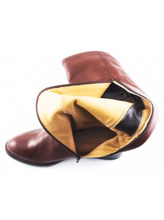 11016 FEETGERALD (Italy) Сапоги осенние кожаные светло-коричневые