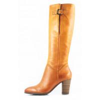 11057 TAMARIS (Germany) Сапоги осенние кожаные светло-коричневые
