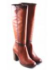 11075 TAMARIS (Germany) Сапоги осенние кожаные коричневые