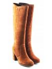 11078 TAMARIS (Germany) Сапоги осенние замшевые светло-коричневые