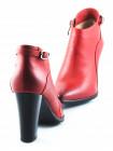 11083 INDIANA (Brazil) Ботильоны зимние кожаные красные