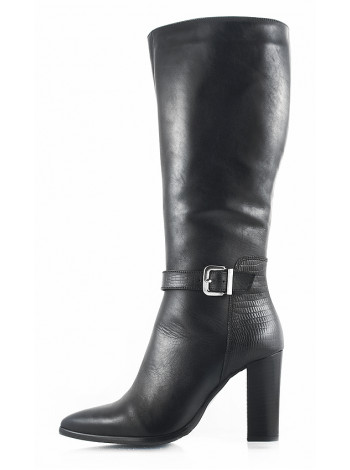 11089 INDIANA (Brazil) Сапоги зимние кожаные черные