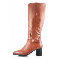 11112 CAPRICE (Germany) Сапоги осенние кожаные коричневые