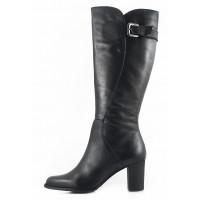 11114 TAMARIS (Germany) Сапоги осенние кожаные черные