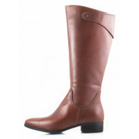Сапоги осенние кожаные TAMARIS (Germany) 11115 коричневые