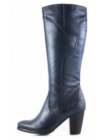11116 TAMARIS (Germany) Сапоги осенние кожаные темно-синие