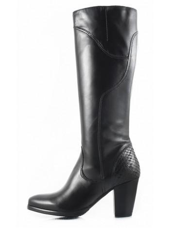 11117 TAMARIS (Germany) Сапоги осенние кожаные черные