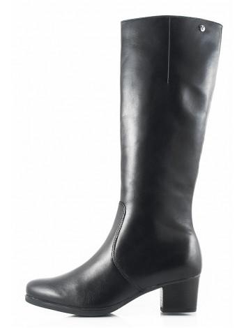 11130 CAPRICE (Germany) Сапоги осенние кожаные черные