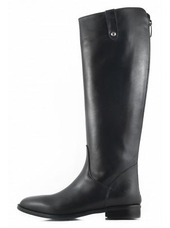 Сапоги осенние кожаные EMANUELE CRASTO (Italy) 11150 черные