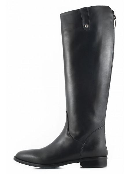 11150 EMANUELE CRASTO (Italy) Сапоги осенние кожаные черные
