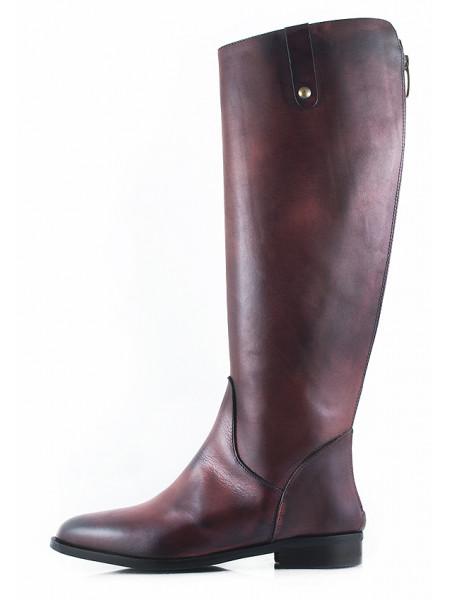 11151 EMANUELE CRASTO (Italy) Сапоги осенние кожаные бордовые