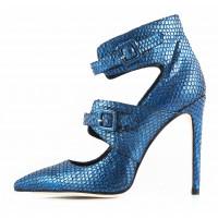 11164 NOE (Italy) Туфли замшево-лаковые синие