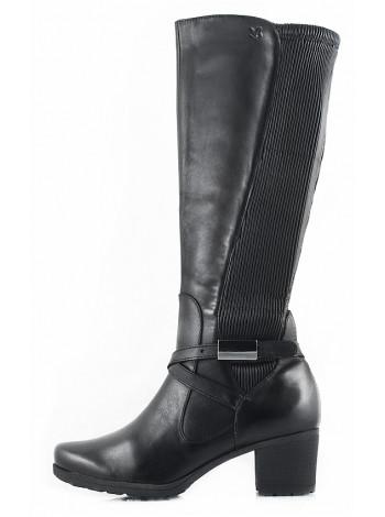 11175 CAPRICE (Germany) Сапоги осенние кожаные черные
