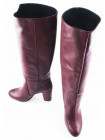 11188 FEETGERALD (Italy) Сапоги весенние кожаные бордовые