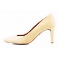 Туфли кожаные RYLKO (Poland ) 11228 светло-бежевые