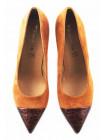 Туфли замшево-лаковые TAMARIS (Germany) 11266 светло-коричневые