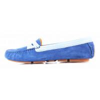 Пенилоферы замшево-лаковые GIANROS (ИТАЛИЯ) 11322 голубые